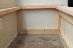 Build your own seating bench and add tons of storage at the same time. Diy Bench Seat, Storage Bench Seating, Alcove Storage, Seat Storage, Storage Chest, Booth Seating In Kitchen, Living Room Bench, Dining Room, Garden Seating