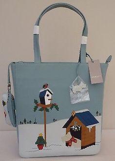 Radley-Large-Shoulder-Signature-Bag-Coin-Purse-Christmas-Time-NEW