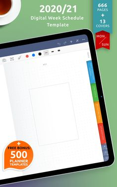 Customize this digital Week Schedule by choosing the start day of the week and adding a unique cover design with your own unique text on it. Browse the selection of all-round digital planners for digital note-taking apps. It comes use with Noteshelf, Xodo, Goodnotes and Notability for your iPad or Android tablet. #schedule #weekly #blank #cute #templates
