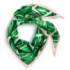 Tropical Honeymoon Picks to Pack Under $50 | Whether you need a touch of sophistication for your plane outfit or want to add some color to a lunch look, this Echo Palm Silk Scarf is your ticket to looking poised and polished.