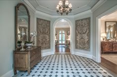 French Foyer with Tile