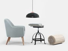 Amazing black lamp with modern chair. Black Lamps, Modern Chairs, Furniture, Lighting, Home Decor, Amazing, Products, Modern Adirondack Chairs, Decoration Home