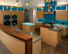 Blue kitchen.