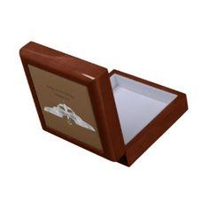 Savarona Logo Tile Box Golden Oak Trinket Box