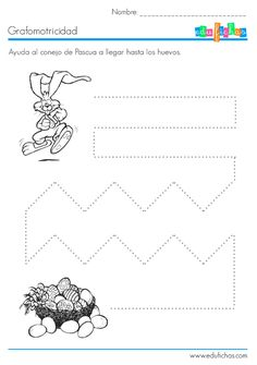 3 Year Olds, Worksheets, Easter, Activities, How To Plan, Crafts, Dotted Drawings, Fine Motor, 3rd Birthday