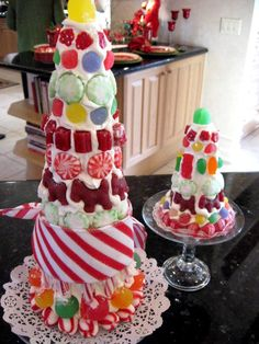 Christmas candy tree.  A little messy looking, but I love the idea