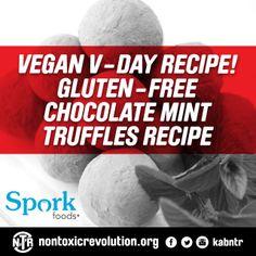 Vegan Valentines Recipe! Gluten-Free Aphrodisiac Chocolate Mint Truffles
