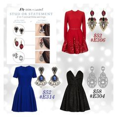 """""""Convertible earrings"""" by katherineinsley-candi on Polyvore featuring Elie Saab, Alexander McQueen, Chloe + Isabel and River Island"""