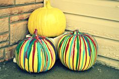Painted pumpkins for Halloween!  Easy how to.