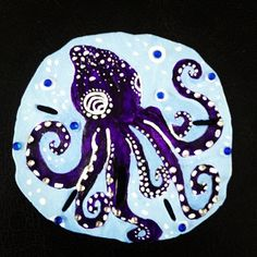 Each sand dollar is hand picked and hand painted using acrylic paint. Some designs are enhanced with Swarovski crystals. Seashell Painting, Seashell Art, Seashell Crafts, Beach Crafts, Sand Crafts, Summer Crafts, Starfish, Painted Sand Dollars, Sand Dollar Art