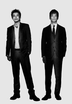 ドラマ「CRISIS 公安機動捜査隊特捜班」に出演する小栗旬さん(左)と西島秀俊さん=関西テレビ提供