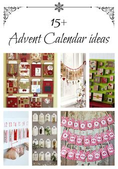 Lots of different advent calendars - like the bags over the fireplace, the matchboxes, and the last one.