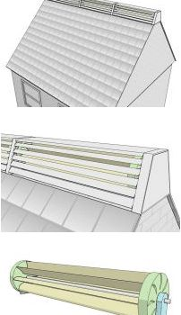 horizontal wind turbine that can attach to an existing roof.