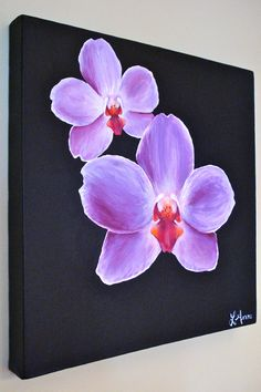 Orchid painting in acrylics