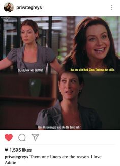 lmao Amelia Mark Sloan, Kate Walsh, Dead To Me, Private Practice, One Liner, New Love, Seattle, Amelia, Face