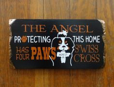 Berner Angel Sign. Handmade Gifts on a Budget.  rustic by NanaSays