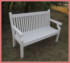 Outdoor White Benches - A garden bench can be an excellent compliment to any backyard. A bench also supply you with a plac White Outdoor Bench, White Garden Bench, Metal Garden Benches, Wooden Garden Furniture, White Bench, Outdoor Decor, Outdoor Benches, Outdoor Living, Wood Bench Legs