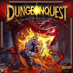 DungeonQuest is a re-imagining of the classic board game of dungeon exploration for 1-4 players. Set in the vibrant fantasy realm of Terrinoth (first popularized by Runebound), DungeonQuest retains the peril, tension, and brutality of the beloved original game while updating both mechanical and thematic elements. Players take on the roles of courageous (or foolish) heroes willing to brave the legendary dangers of Dragonfire Dungeon. Fortune awaits those able to venture into the dragon&rsq...