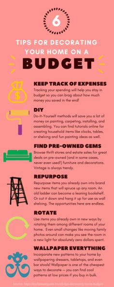6 Tips For Decorating Your Home On A Budget via @