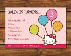 Hello Kitty Birthday Printable Hello Kitty Party Printables