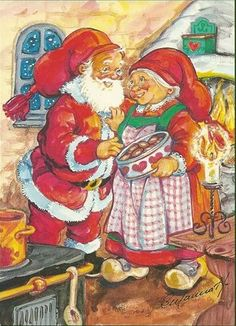 Joulupukki kera Muorinsa