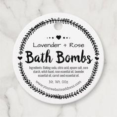 Homemade Spa Bath Bomb Favor Tags