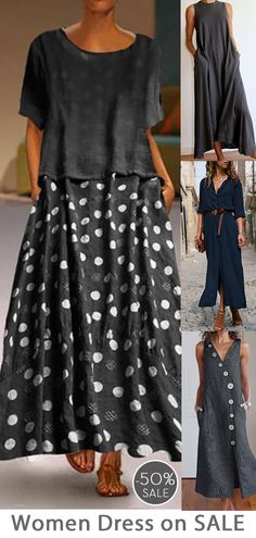 Womens casual maxi dress now OFF. Maxi Outfits, Cool Outfits, Fashion Outfits, Womens Fashion, Blouse And Skirt, Dress Skirt, Mom Dress, Kinds Of Clothes, Handmade Dresses
