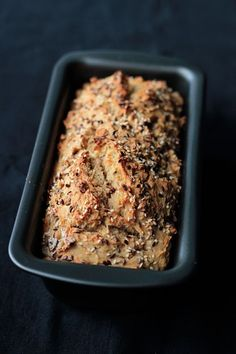 Yeast-free Easiest Bread Recipe EVER (via comments: 200 degrees C = 392 degrees F. Use room temp club soda)