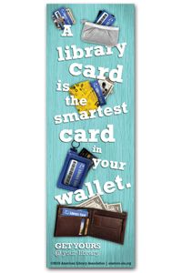 Library Card Sign-up Bookmark - Bookmarks - Events and Celebrations - ALA Store