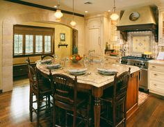 Small Kitchen Island with Seating | Oversize Kitchen Island for Family-Style Dining Space