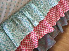 Coral & Seafoam Custom Crib Bedding Set limited by LottieDaBaby, $430.00