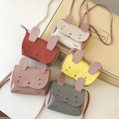 cd778cd3de3d TL - PU Leather Kids Rabbit Mini Messenger Bag Baby Girls Handbag Coin  Purse Children Crossbody Bag for Girls Ladies Shoulder Bags