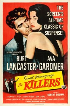"Movie Posters:Film Noir, The Killers (Universal International, R-1956). One Sheet (27"" X41"").. ..."