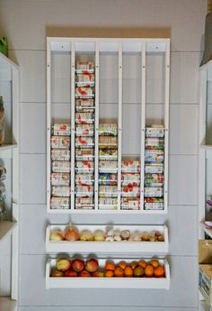 "WHY have I not done this sooner? Last week, I tackled our canned food situation by building a DIY Can Organizer, and it was life changing. But I still had one more pantry problems to solve. We go through a lot of produce in our household, so having good vegetable storage is a big deal to keeping our household running. I've tried all sorts of things - baskets, canisters with ""breathing"" holes, wood bin cabinets - we've tried it all. I think I've finally found the PERFECT produce storage syste"