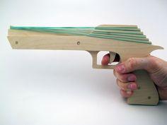 Swamphawk 6 Shot Rubber Band Gun by RBGArmory on Etsy