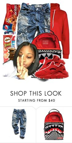 """Untitled #88"" by bxby-girl-rielle ❤ liked on Polyvore featuring Levi's, Sprayground and NIKE"