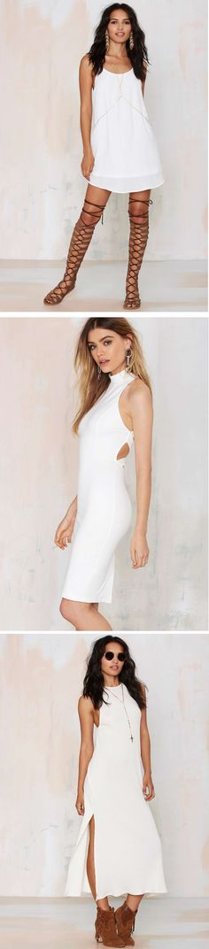 Trade in that LBD for a LWD. @nastygal has the ultimate collection of head-turning white dresses and we're sharing.