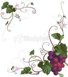 Grape Vine Border | grape vine vector – Item 5