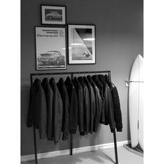 Steady progress with the showroom/retail space. Can't wait to finish my to-do list and open up. Finally got around to hanging up my original @jgrantbrittain piece up - stoked! Thanks to @cecil_arp for the rad gift!  #marinemachine #watervsconcrete #leathergoods #leatherjacket #newhangout #supporttheindependents #qualityoverquantity #forthehomiesbythehomies #hamburg #hamburgsfinest by marinemachineleathersupply