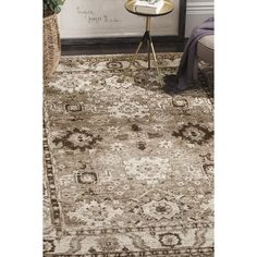Safavieh Vintage Hamadan Traditional Taupe Distressed Rug - x Oriental Pattern, Oriental Rug, Furniture Styles, Online Home Decor Stores, Asheville, Beige Area Rugs, Rug Size, Taupe, How To Find Out