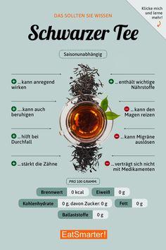 Das solltest du über Schwarzen Tee wissen | eatsmarter.de #ernährung #infografik #schwarzertee