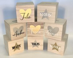 Baby Decor, Silhouette Cameo, Arts And Crafts, Place Card Holders, Hart, Joy, Stickers, Painted Wood, Ornaments