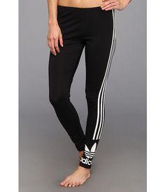 adidas Originals 3-Stripes Leggings Black/White - Zappos.com Free Shipping BOTH Ways