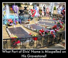 """Answer: Elvis was born Elvis Aron Presley but visit Elvis' gravestone and you'll see his middle name spelled the traditional way of """"Aaron."""" Click on pin to preview our children's American History DVDs."""