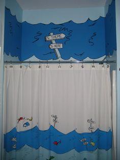 Etonnant Dr Seuss Bathroom Decor With Painted Mural