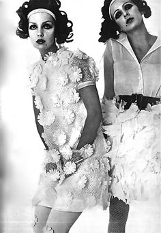 1968. Vogue Paris. Models Donna Mitchell and Agneta Darin. Photo by Bob Richardson (B1928-D2005). Father of photographer Terry
