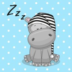 Illustration about Sleeping Hippo in a cap. Illustration of baby, celebrations, illustrations - 45694676 Baby Hippo, Cute Hippo, Baby Animals, Cute Animals, Baby Cartoon, Cartoon Pics, Cute Cartoon, Clipart Baby, Animal Drawings