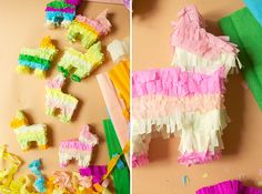 10 mini donkey piñatas for your fiesta by Vintagebabydoll on Etsy, $75.00