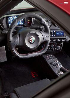 Alfa Romeo 4C steering wheel 2 | Flickr - Photo Sharing!