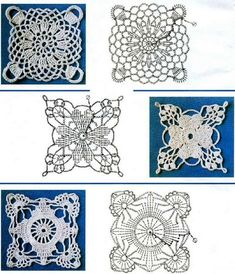 Квадратные мотивы piastrelle in cotone.
